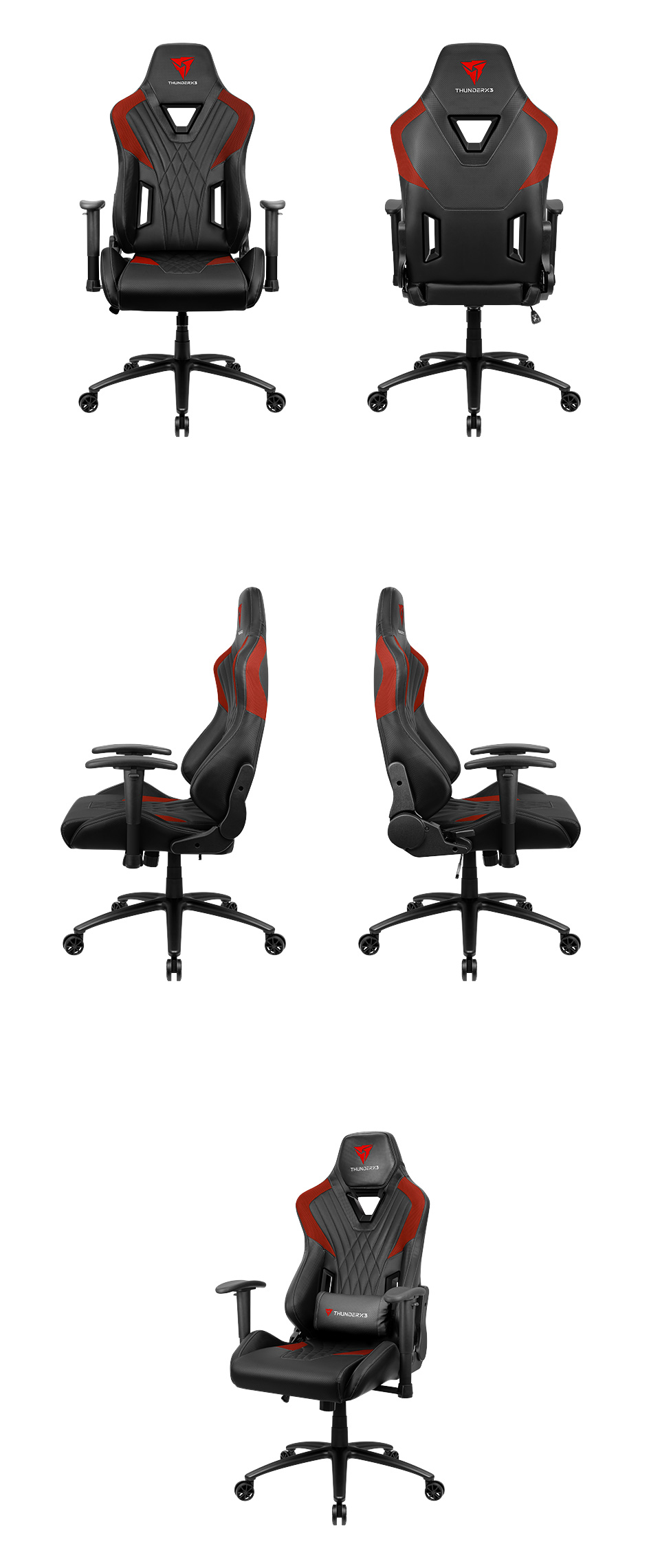 Aerocool ThunderX3 DC3 Gaming Chair Black Red product