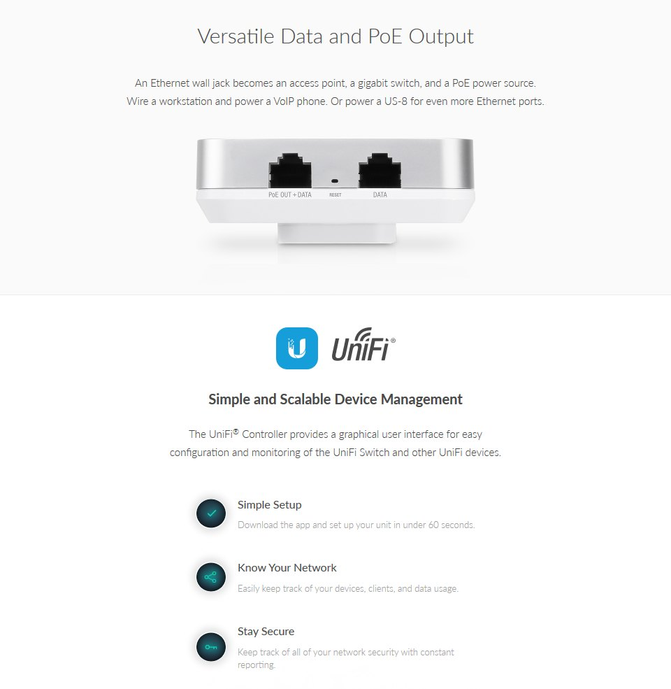 Ubiquiti UniFi AC In-Wall Access Point 5 Pack features 2