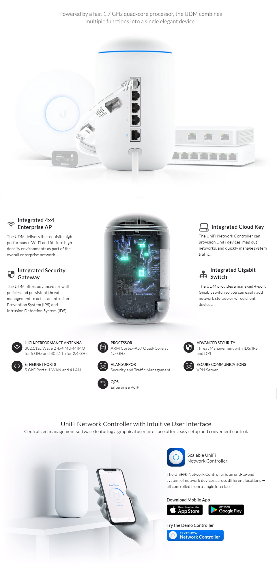 Ubiquiti UniFi Dream Machine Wireless Router features
