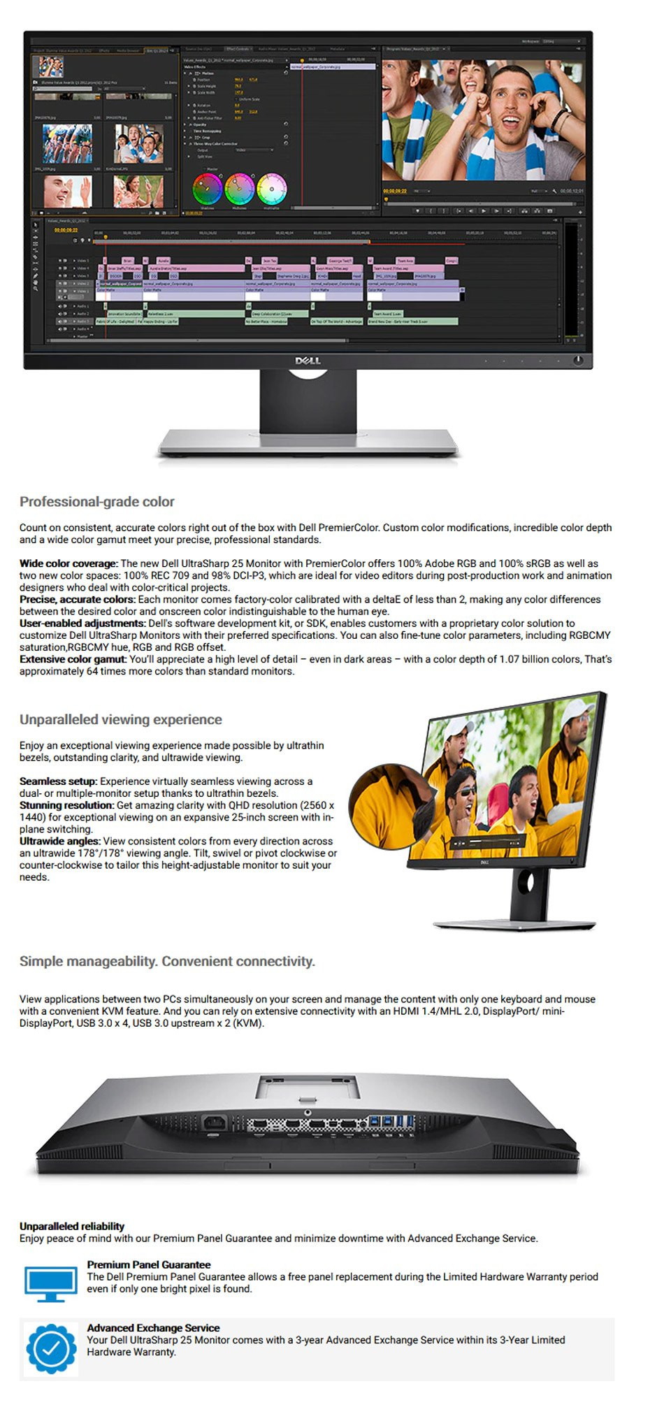 Dell UltraSharp UP2516D 25in Widescreen LED Monitor