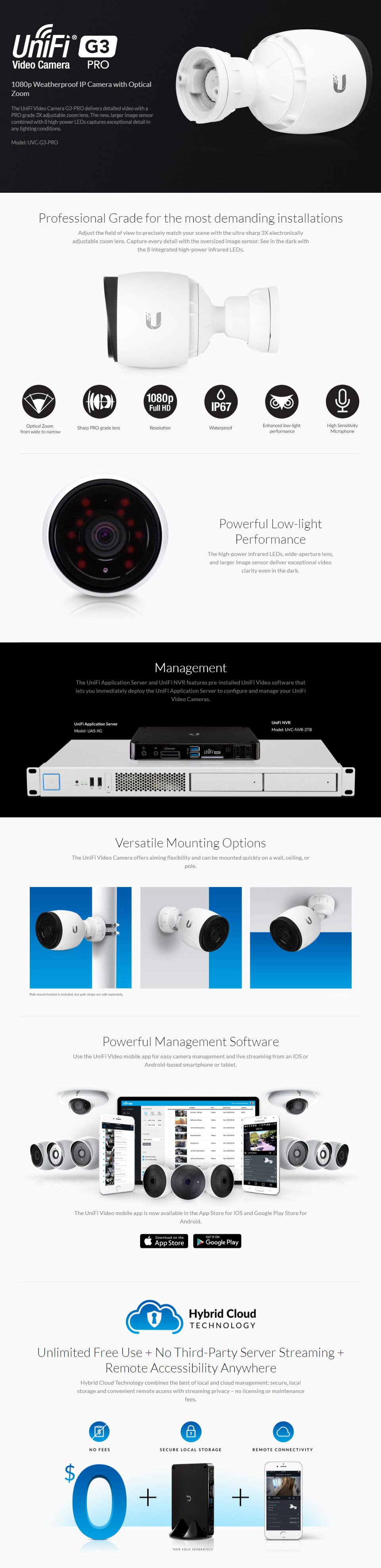 Ubiquiti UniFi Video Camera G3 Infared Pro
