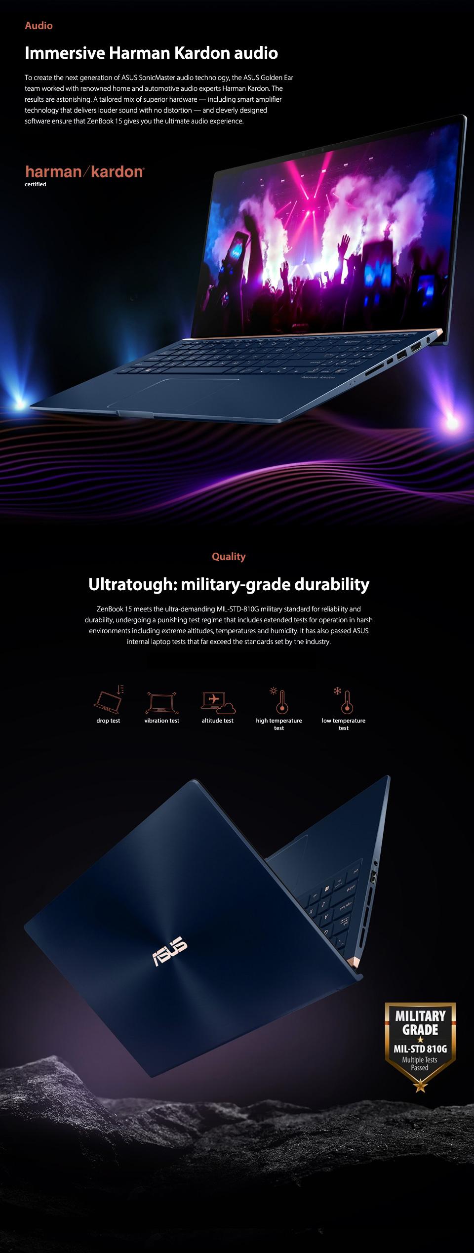 ASUS ZenBook Core i7-8565U GTX 1050 FHD 15.6in Laptop features 6
