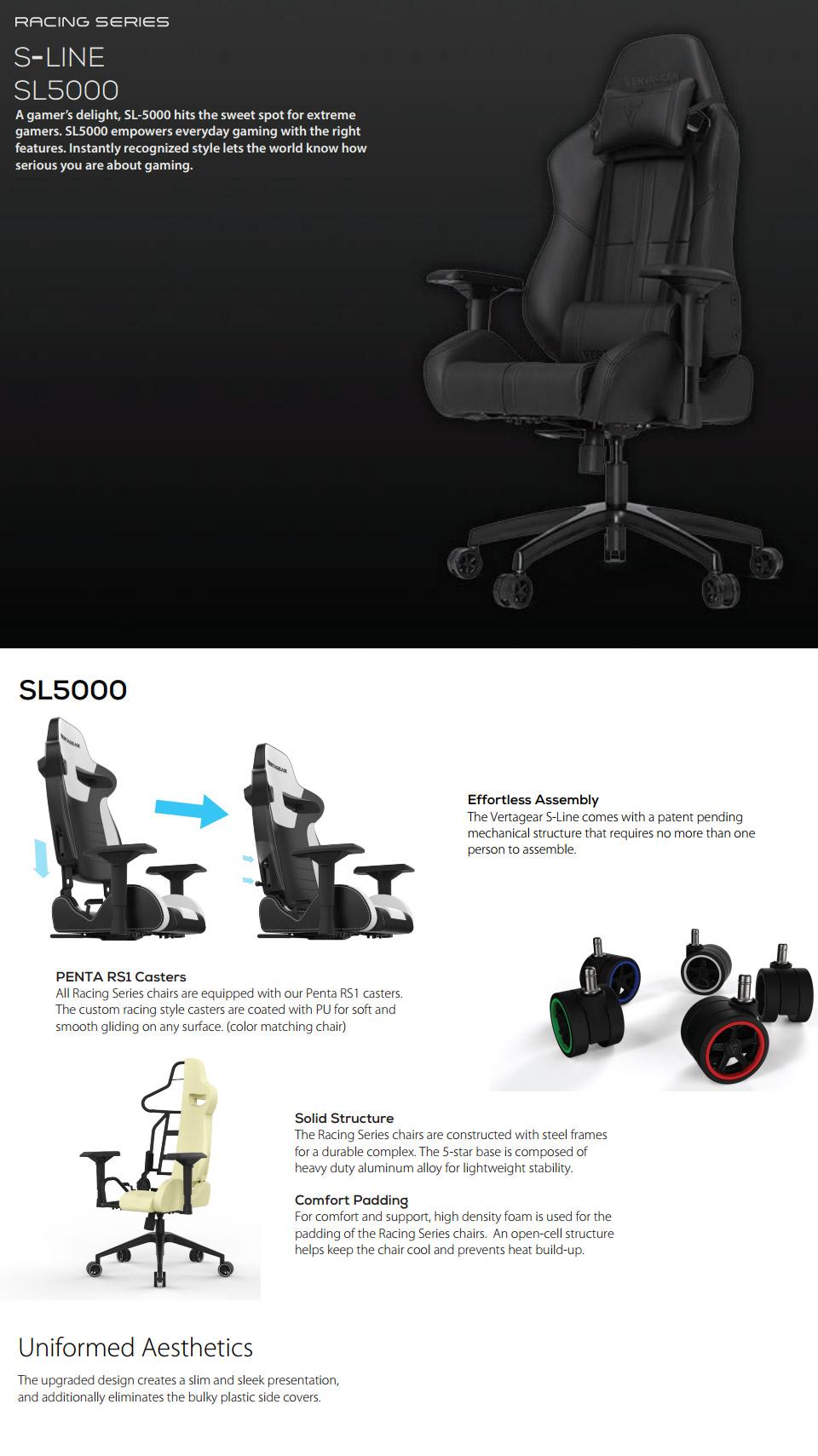 Kết quả hình ảnh cho Vertagear S-Line SL5000 Racing Series Gaming Chair