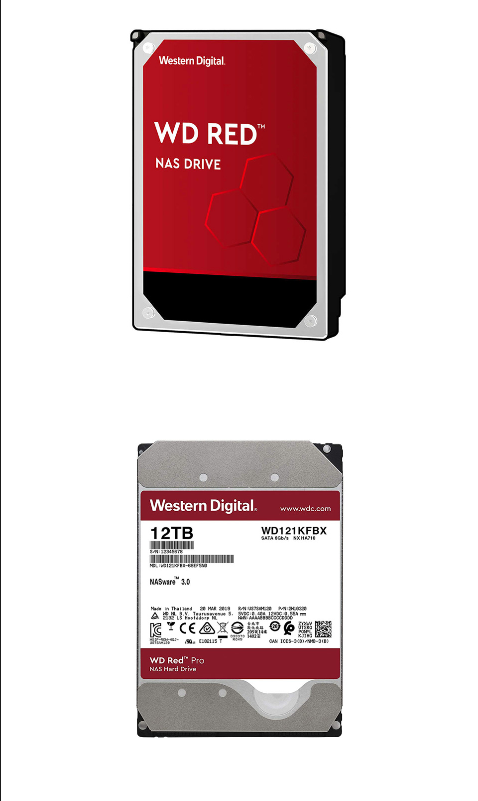 Western Digital WD Red Pro 12TB WD121KFBX 3.5in NAS Hard Drive product