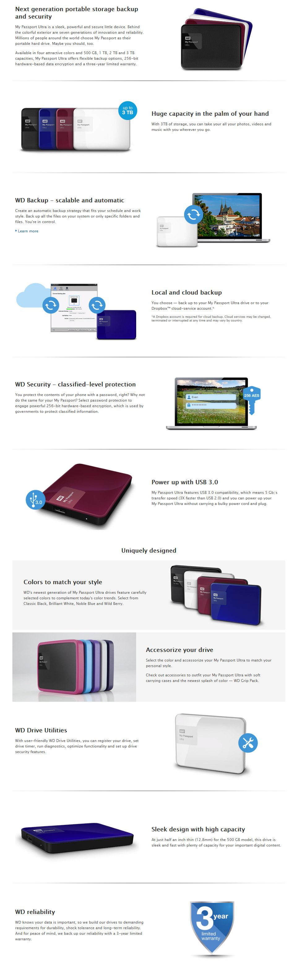 Western Digital Wd My Passport Ultra 1tb External Hdd Red Hd Than Usb 20 And You Can Power Up Your Without Carrying A Bulky Cord Plug Backed By 3 Year Warranty