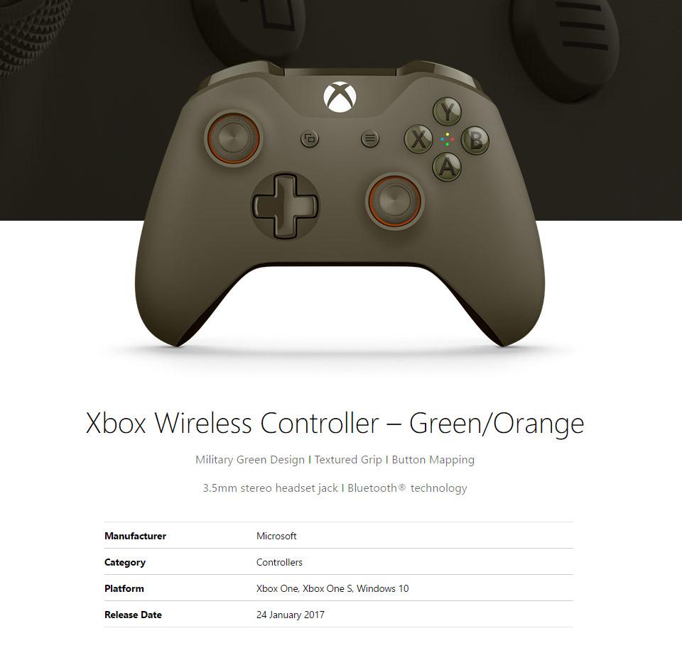 Microsoft Xbox One Wireless Controller For Windows Green