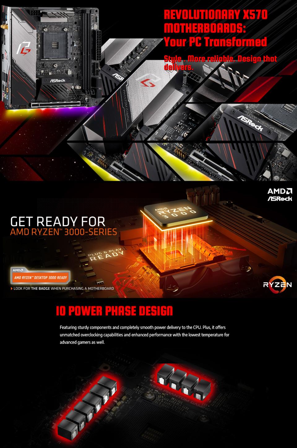 ASRock X570 Phantom Gaming ITX/TB3 Motherboard features