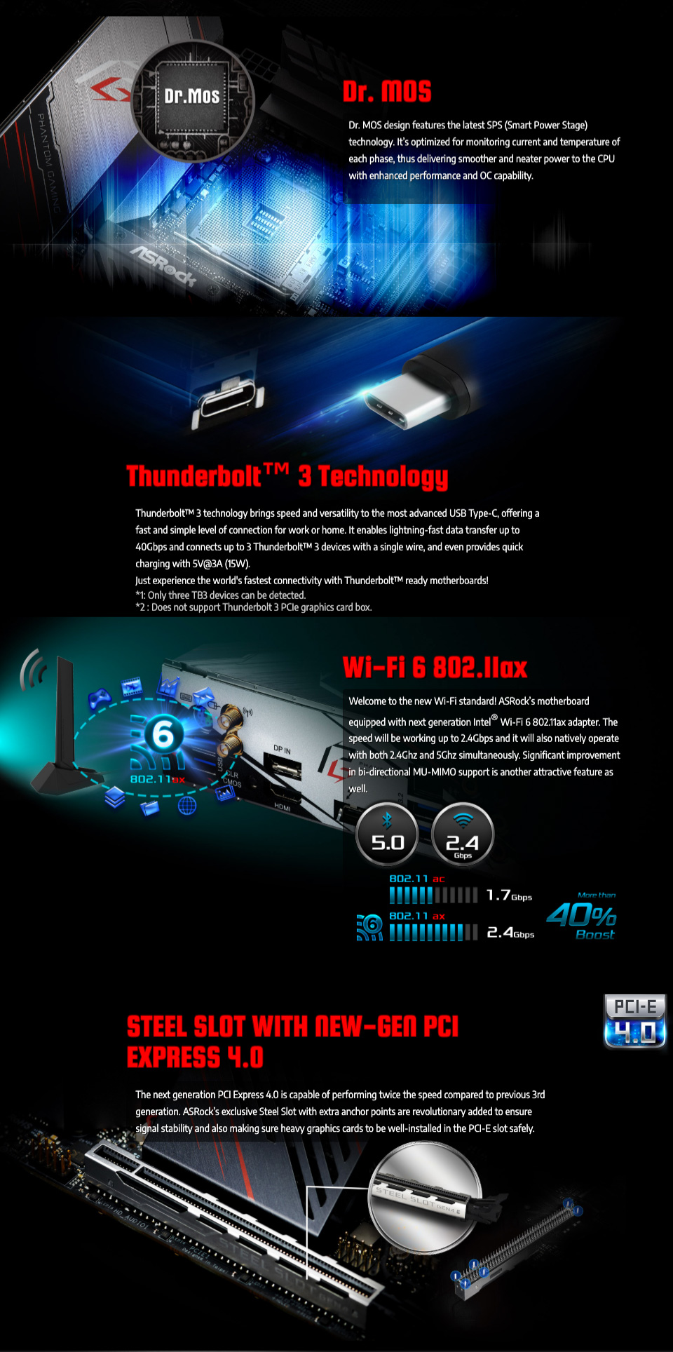 ASRock X570 Phantom Gaming ITX/TB3 Motherboard features 2