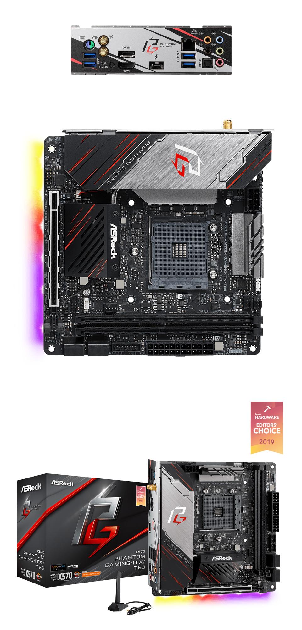 ASRock X570 Phantom Gaming ITX/TB3 Motherboard product