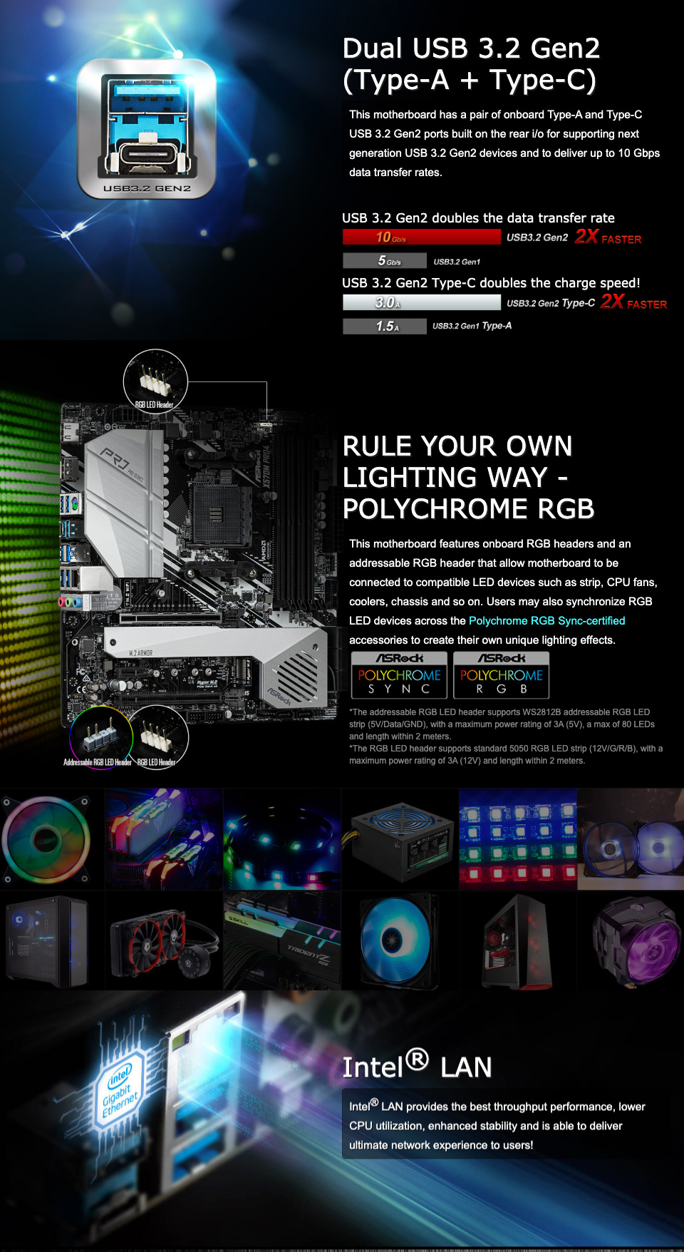 ASRock X570M Pro4 Motherboard features 2