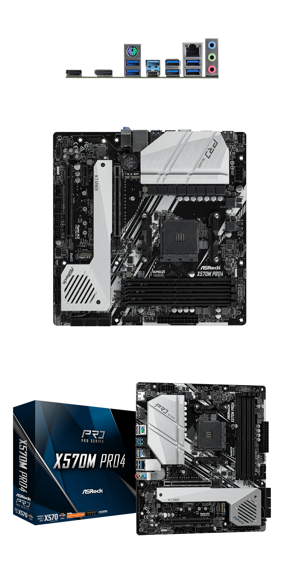 ASRock X570M Pro4 Motherboard product