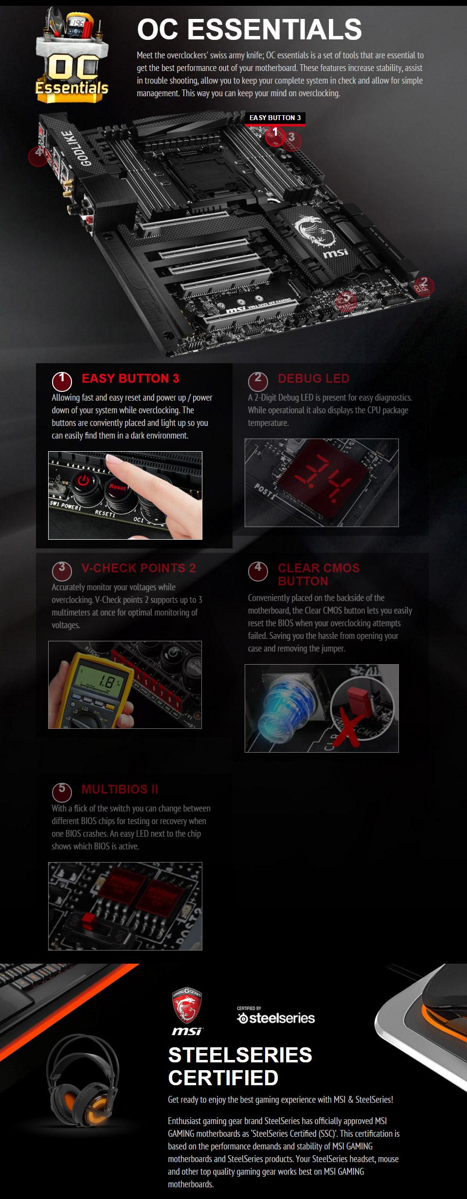 Msi X99a Godlike Gaming Carbon Rgb Motherboard Wifi 80211ac Bluetooth 40 Hd Audio Oc Genie 4 Nahimic Enhacer Click Bios E Atx Form Factor Backed By A 3 Year Warranty