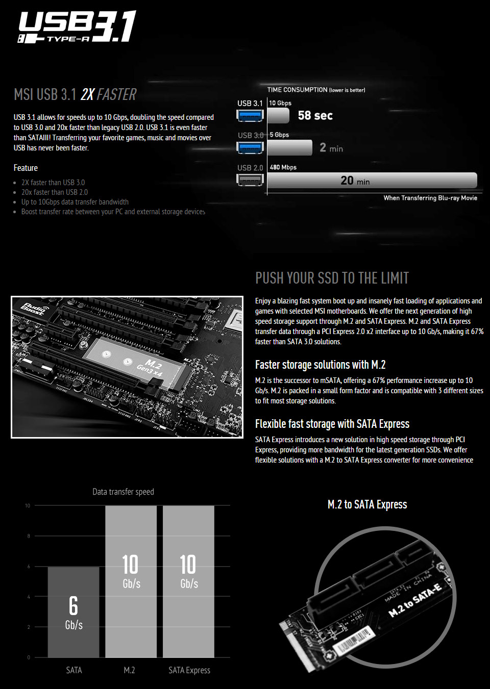 MSI X99A SLI Krait Edition Motherboard [X99A-SLI-KR] : PC Case Gear