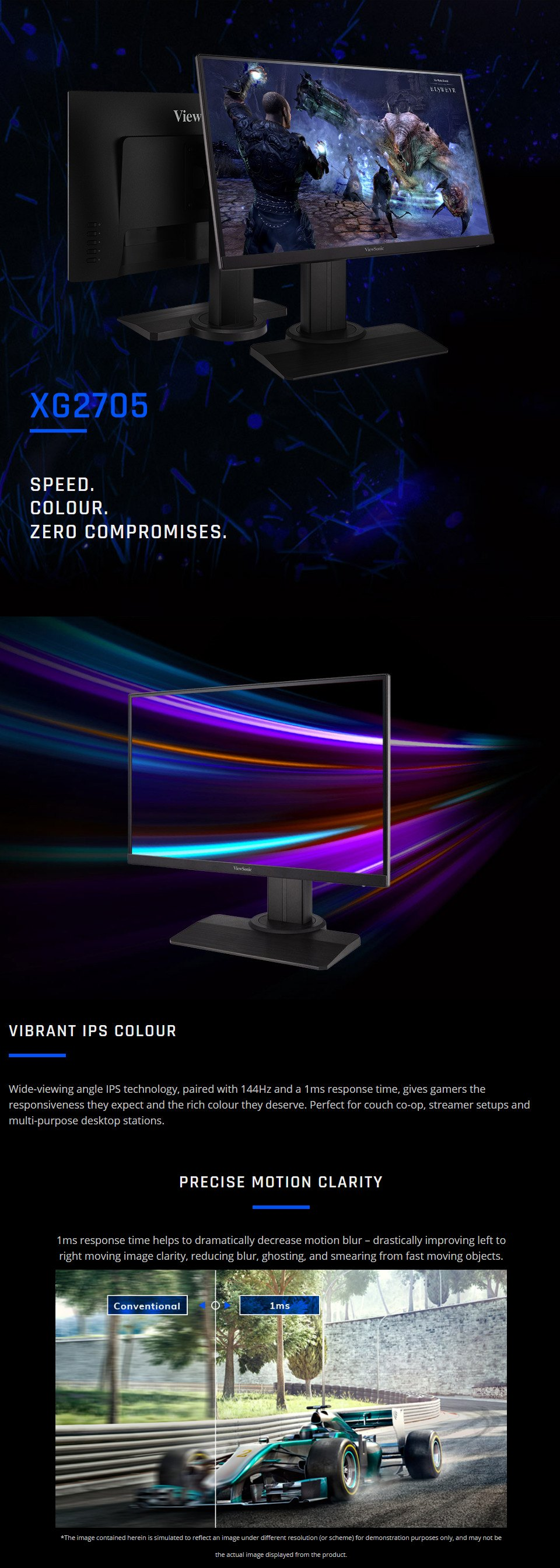 ViewSonic XG2705 FHD 144Hz IPS FreeSync 27in Monitor features