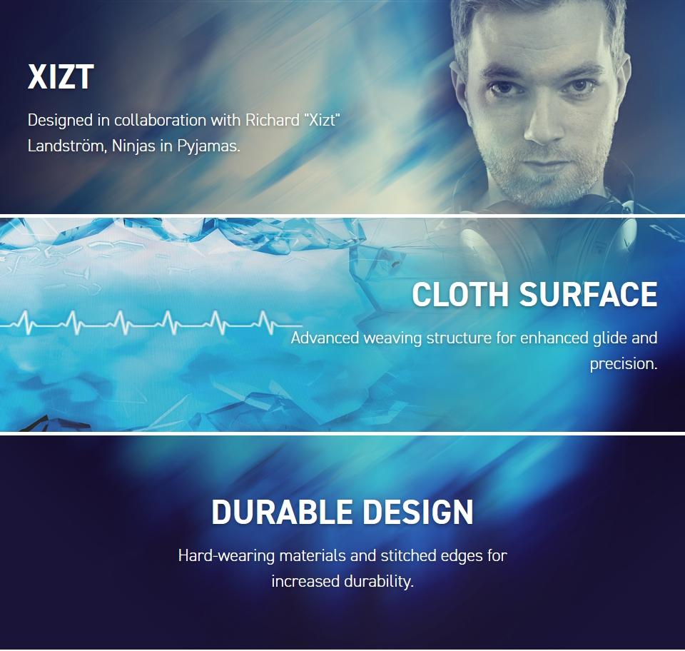 Xtrfy XTP1 Xizt Landstrom Mousepad Large features