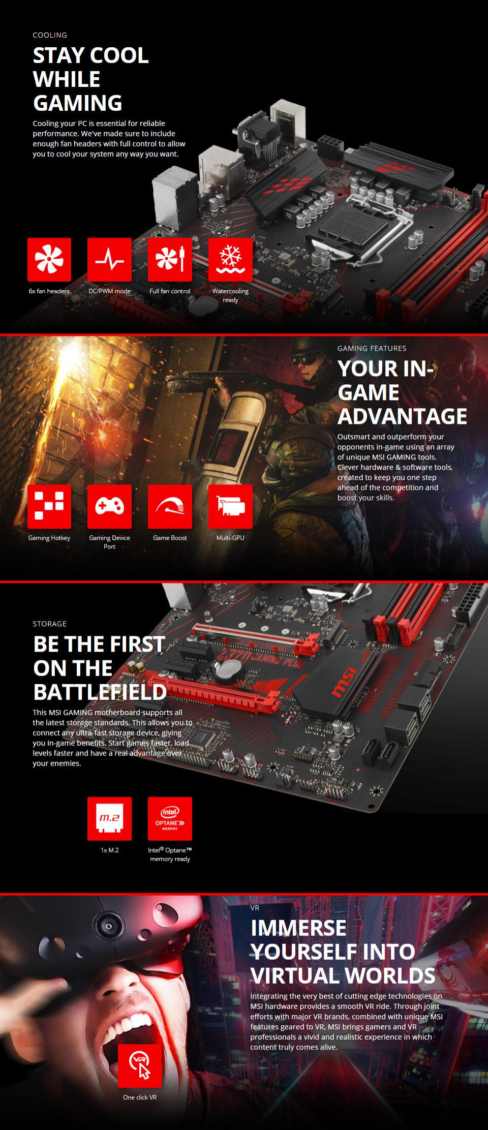 MSI Z370 Gaming Plus Motherboard [Z370-GAMING-PLUS] : PC