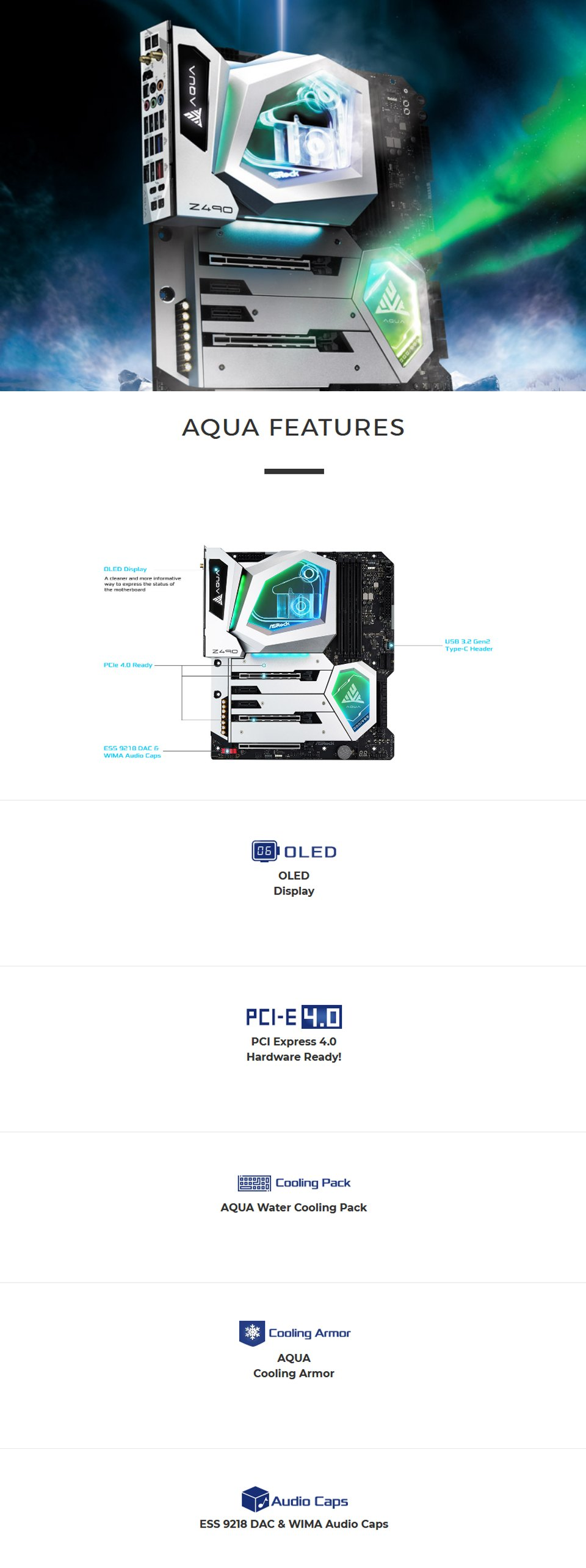 ASRock Z490 Aqua Motherboard features