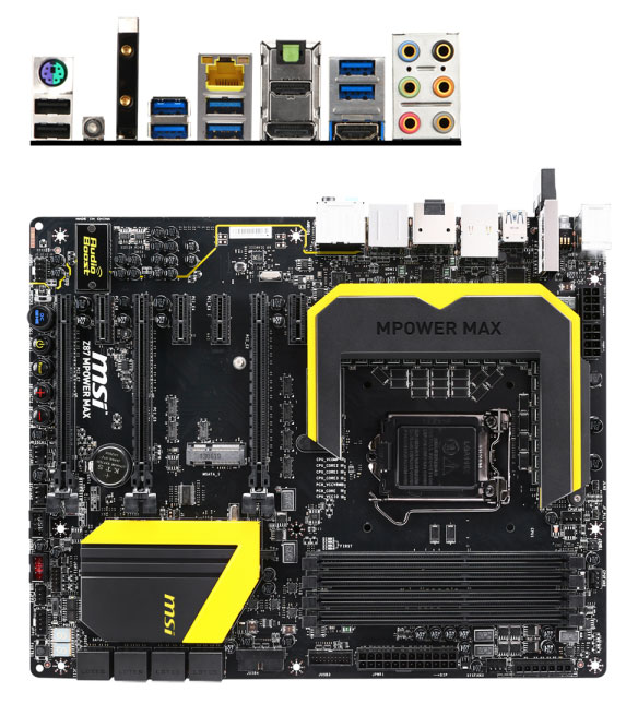 MSI Z87 MPOWER MAX Motherboard [Z87-MPOWER-MAX] : PC Case Gear