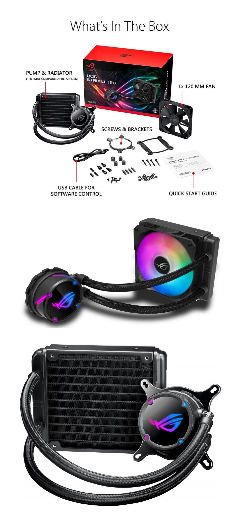 ASUS ROG Strix LC 120 ARGB AIO Liquid CPU Cooler product
