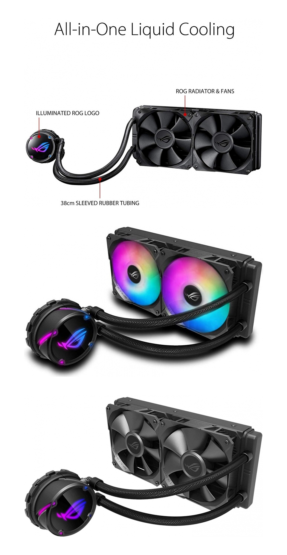 ASUS ROG Strix LC 240 ARGB AIO Liquid CPU Cooler product