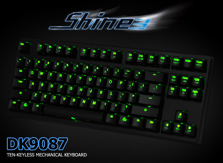 ec415ed7edc Ducky Shine 3 TKL Mech Keyboard Red LED Cherry Brown [DK9087S3 ...