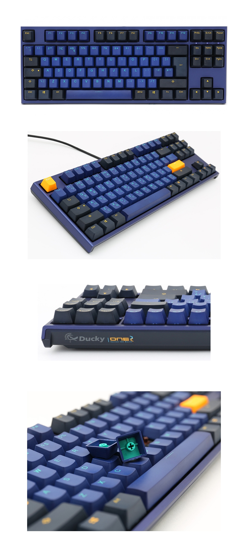 Ducky One 2 Horizon TKL Mechanical Keyboard Cherry Speed Silver product