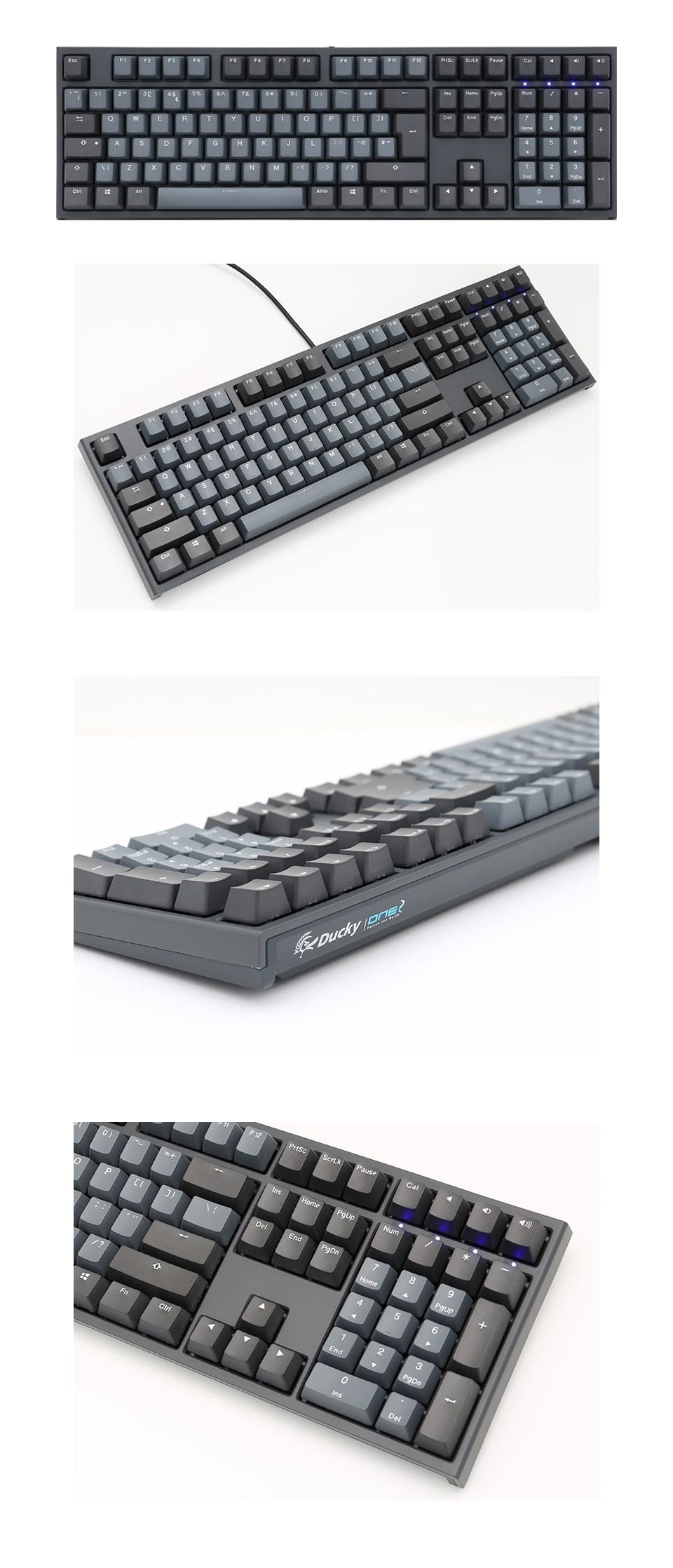 Ducky One 2 Skyline Mechanical Keyboard Cherry Clear features 4