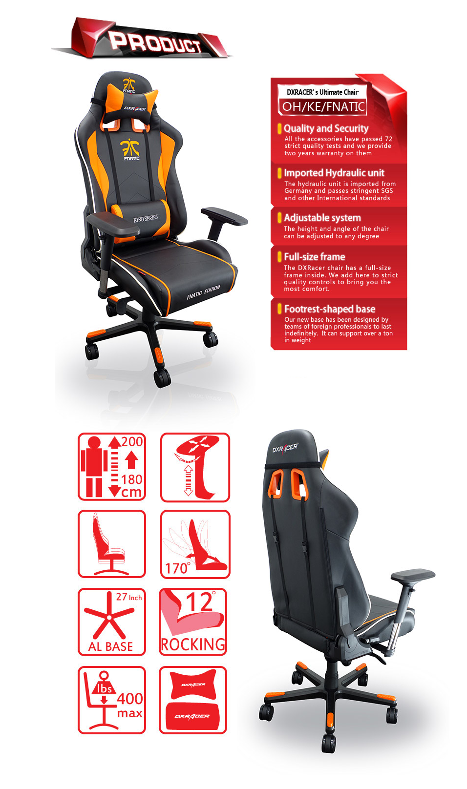 Marvelous Dxracer K Series Pc Office Gaming Chair Fnatic Edition Dxr Theyellowbook Wood Chair Design Ideas Theyellowbookinfo