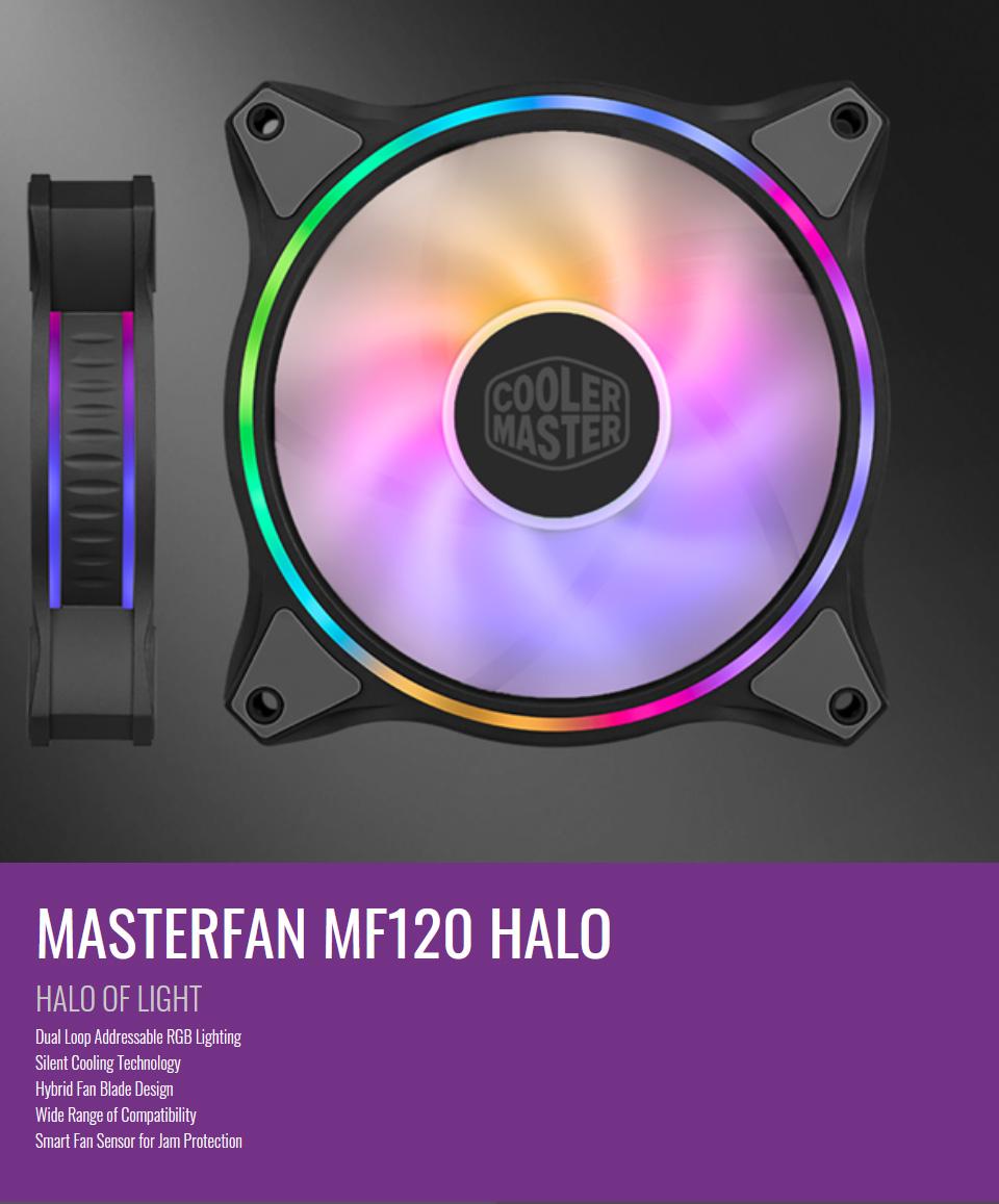Cooler Master MasterFan MF120 Halo ARGB 120mm Fan features