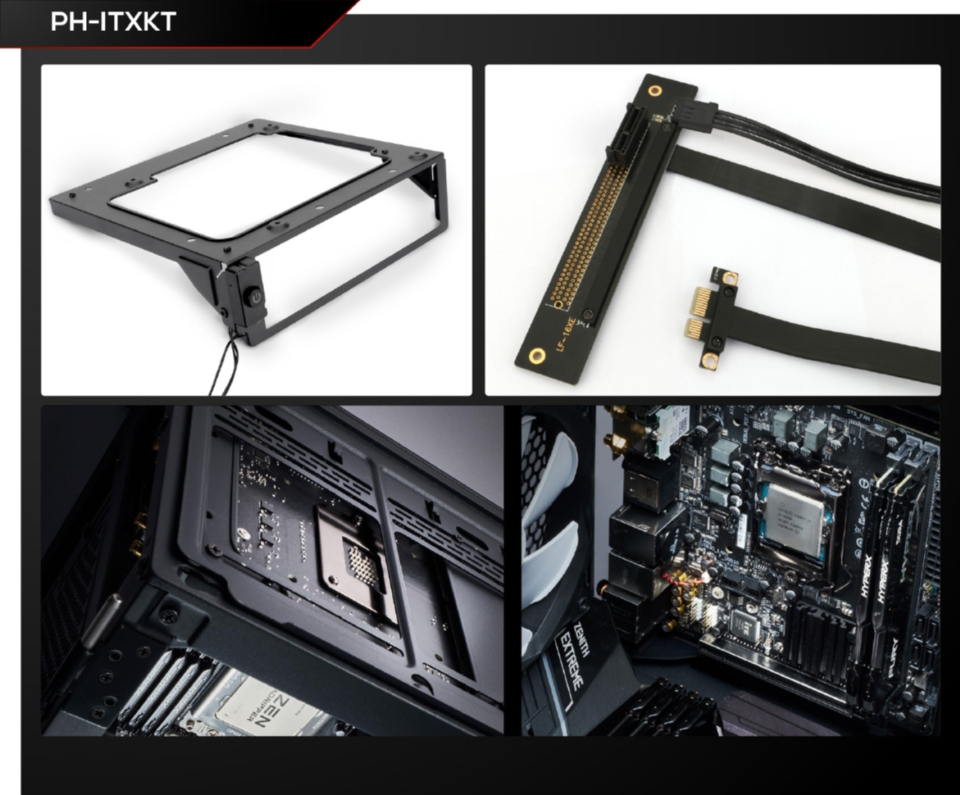 Phanteks ITX Upgrade Kit with Riser Cable for Capture Card features
