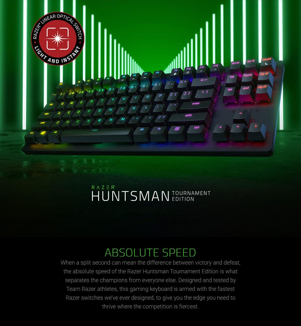 Razer Huntsman Tournament Edition Opto-Mechl Gaming Keyboard features
