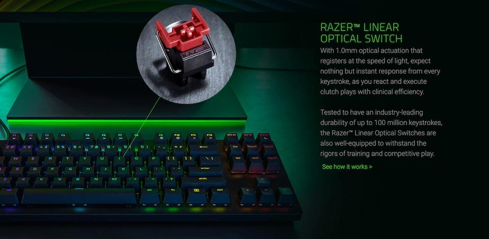 Razer Huntsman Tournament Edition Opto-Mechl Gaming Keyboard features 2