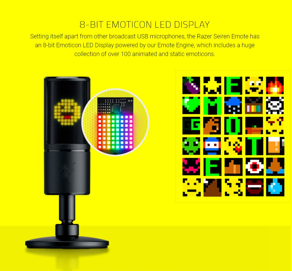 Razer Seiren Emote USB Desktop Microphone features 2