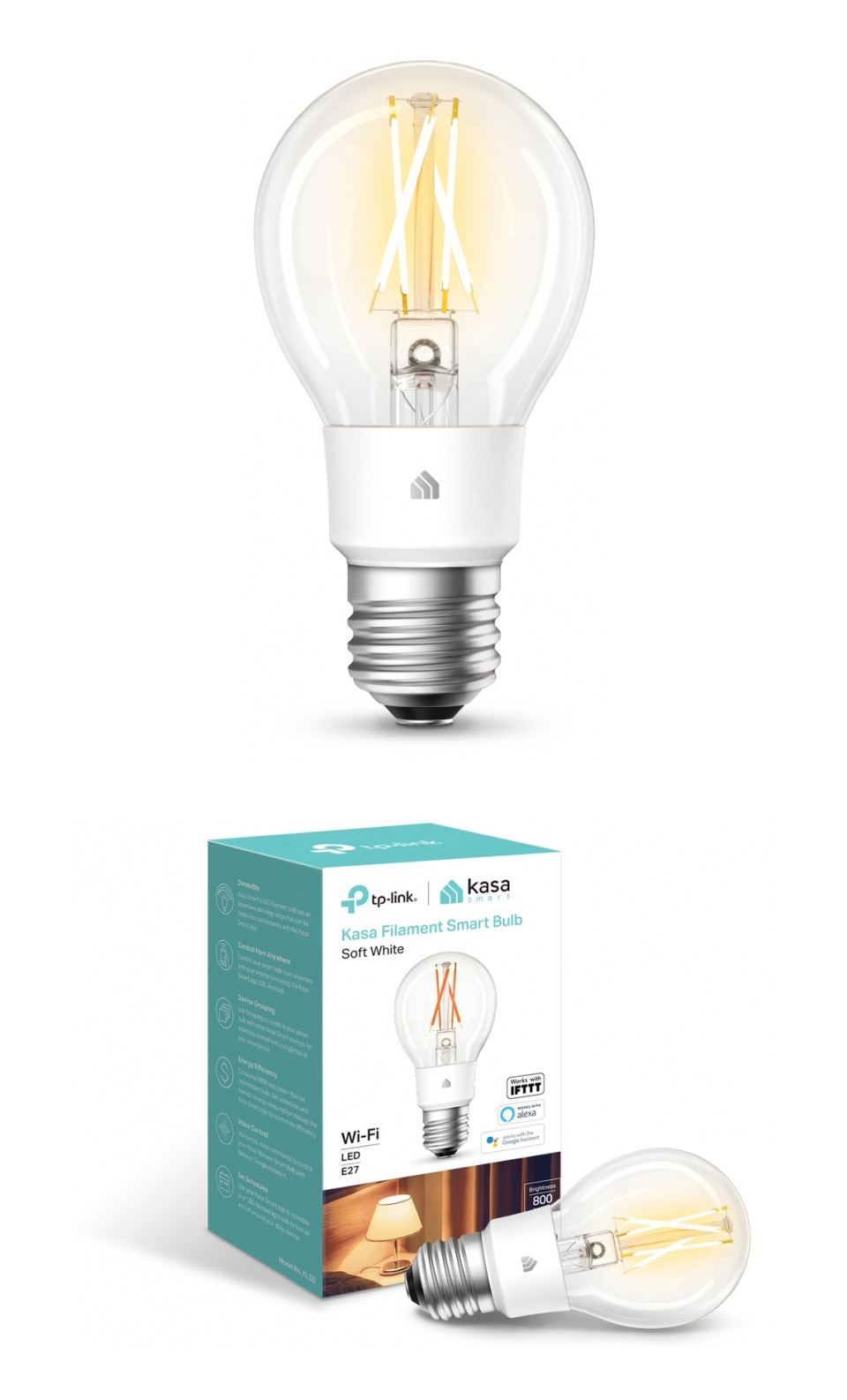 TP-Link KL50 Soft White Filament Smart Wi-Fi LED Bulb product