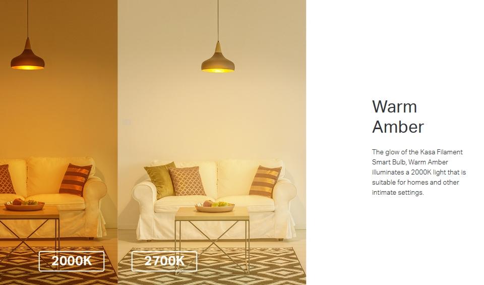 TP-Link KL60 Warm Amber Filament Smart Wi-Fi LED Bulb features 2