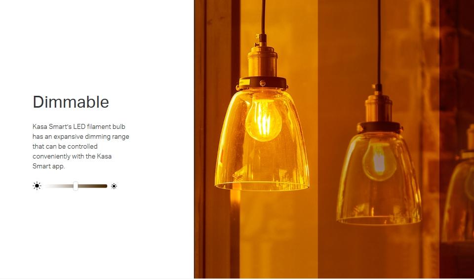 TP-Link KL60 Warm Amber Filament Smart Wi-Fi LED Bulb features 4