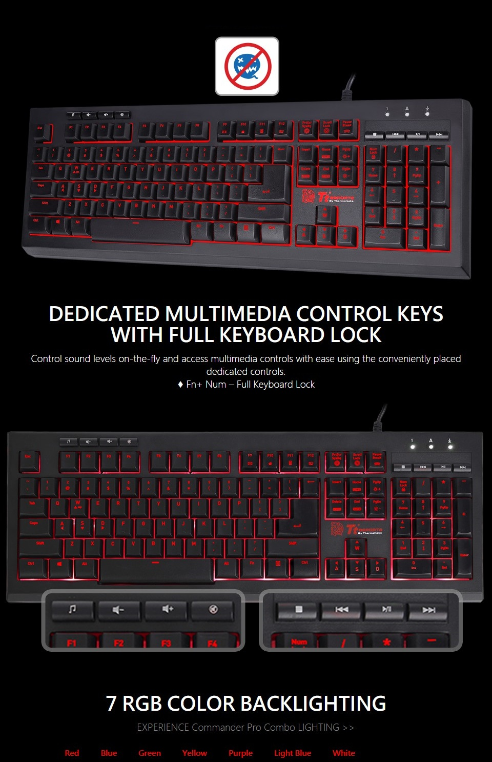 Tt eSPORTS Commander Pro Gaming Keyboard and Mouse Combo features 2