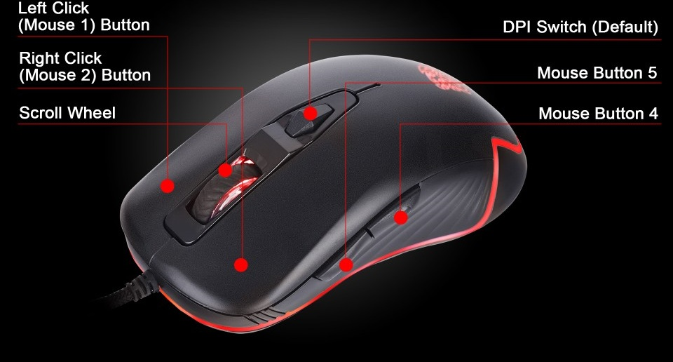 Tt eSPORTS Commander Pro Gaming Keyboard and Mouse Combo features 4