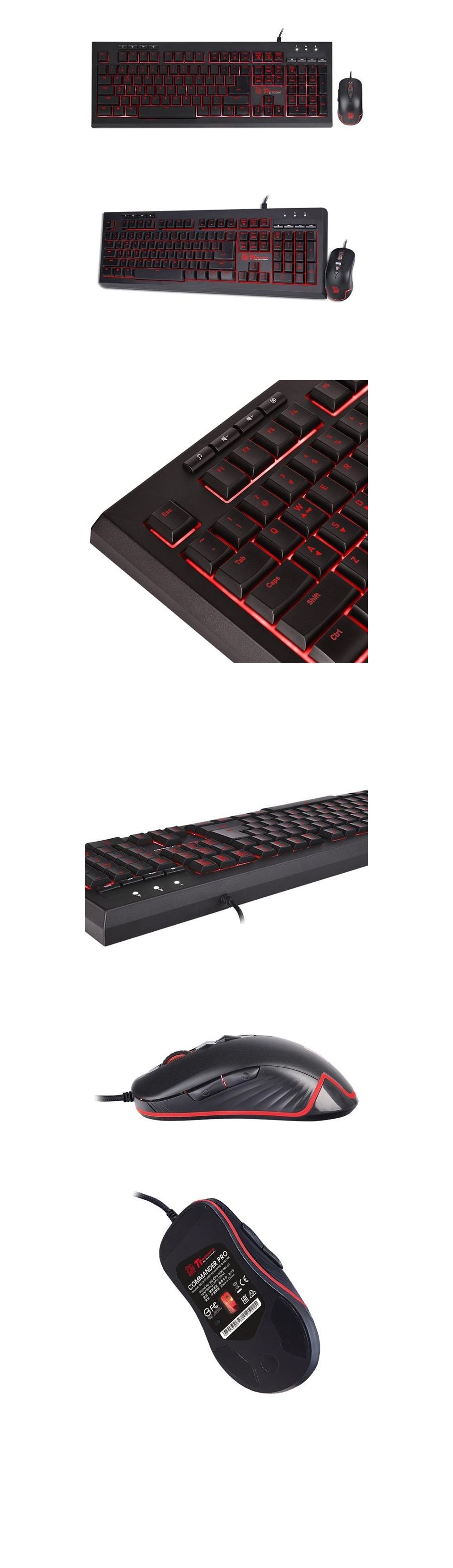 Tt eSPORTS Commander Pro Gaming Keyboard and Mouse Combo product