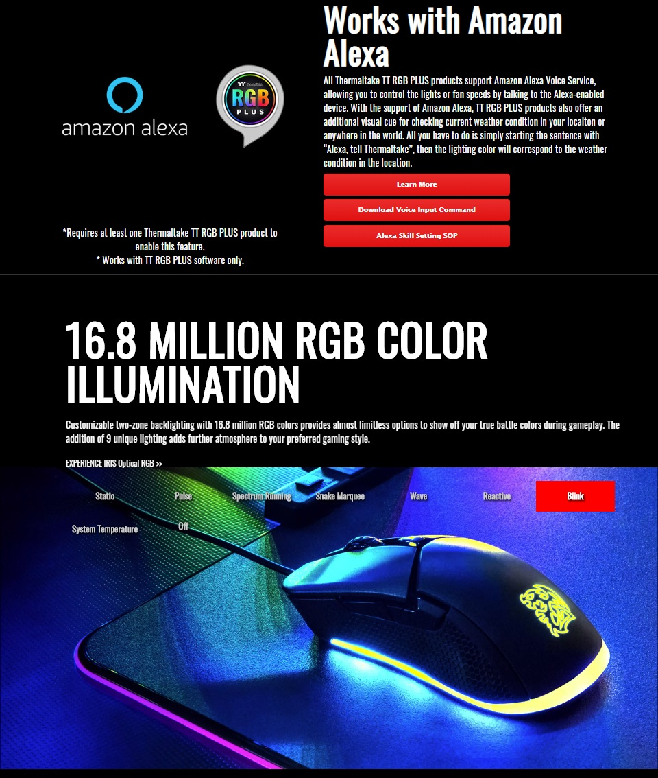 Tt eSPORTS Iris Optical RGB Gaming Mouse features 2