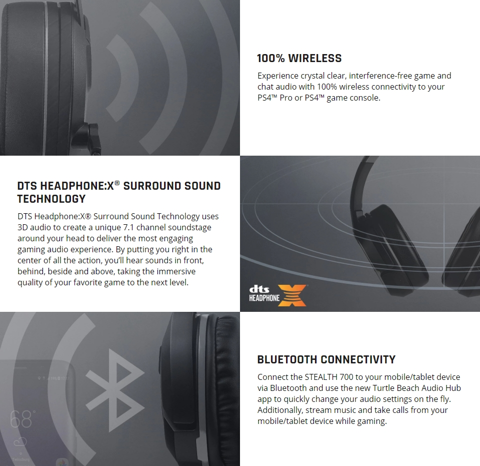 Turtle Beach Stealth 700P Wireless 7.1 Gaming Headset features