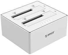 Orico Dual Bay USB 3.0 SATA HDD Docking Station Silver