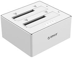 Orico Dual Bay USB 3.0 SATA HDD Docking Station Silver