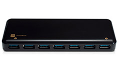 Hotway HH5-U37P 7 Port USB 3.0 Hub with 24W Charging Black