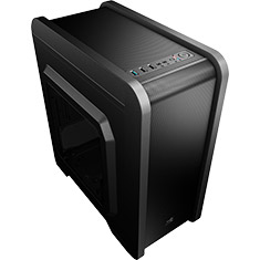 Aerocool QS-240 Micro ATX Case with Window Black