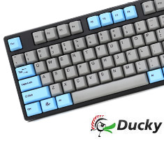 Ducky One Blue Grey PBT Keycaps Mech Keyboard Cherry Black
