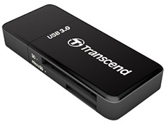 Transcend TS-RDF5K USB 3.0 Mini External Card Reader Black