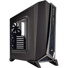 Corsair SPEC-ALPHA Mid Tower Gaming Case Black Silver