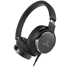Audio-Technica ATH-SR5 On Ear Headphones Black