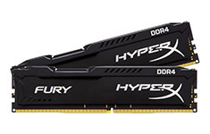 Kingston HyperX Fury 32GB (2x16GB) 2400MHz CL16 DDR4 Black